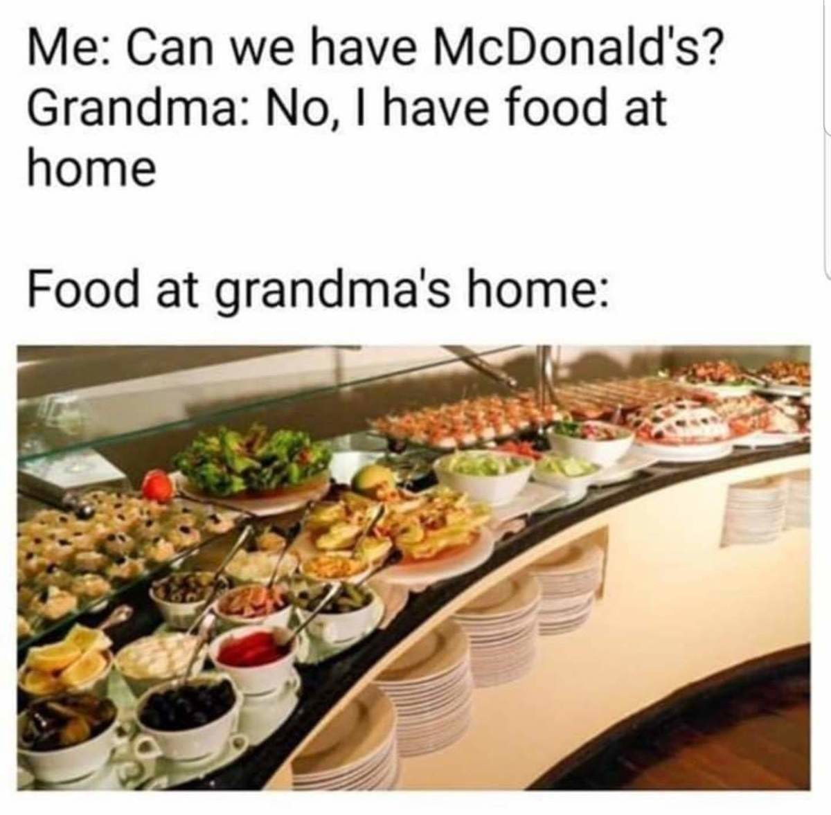 high-pitched giant Wolf. .. seems i really missed out on this whole grandmother thing/meme... do most people's grandmothers really make them lots of food and show lots of care? father's mo
