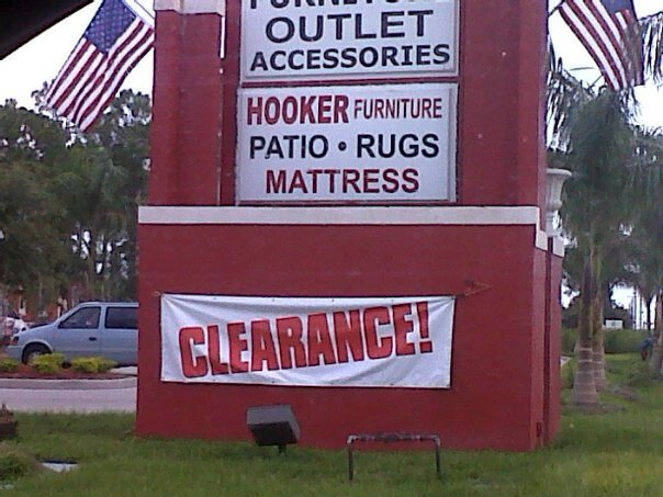 Hooker Furniture on Clearance. Don't think I want that mattress....