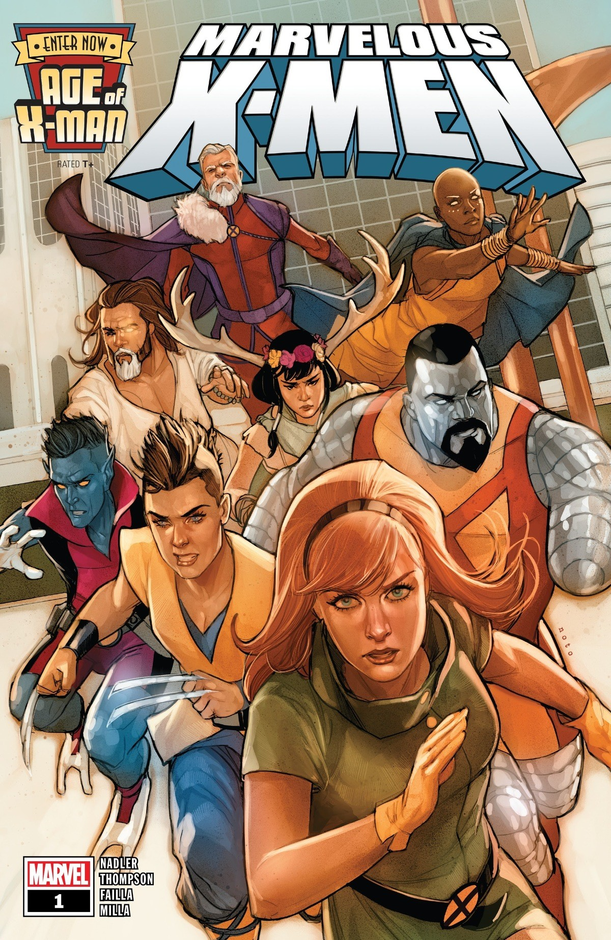 House of M rehash. .. Attack of the cripples? Geriatric squad? Old man magneto, chemo storm, one eyed thor, Mrs Deerkin, blue dabadeedabadie, one handed aluminium communist, angsty t