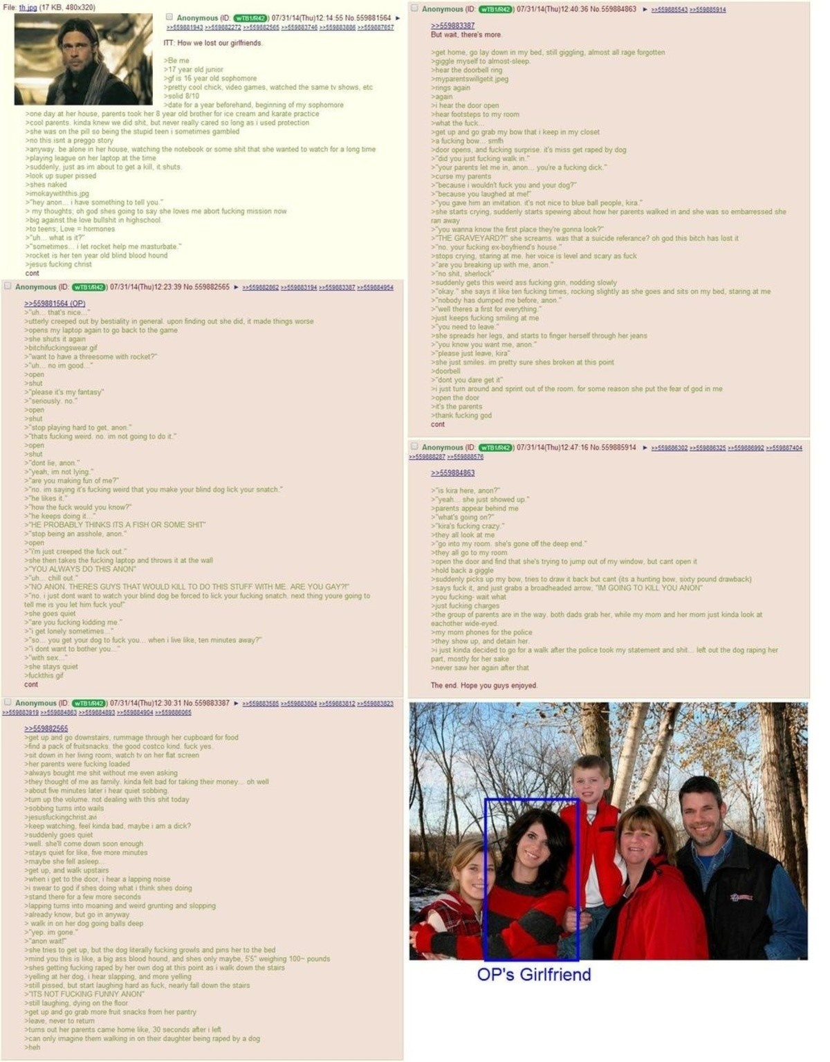 How anon lost his gf. join list: Chanoholic (310 subs)Mention History.. I forgot what this was. I was reading the first part completely oblivious. ''Sometimes... I let Rocket help me masturbate.'' It all came flooding back.