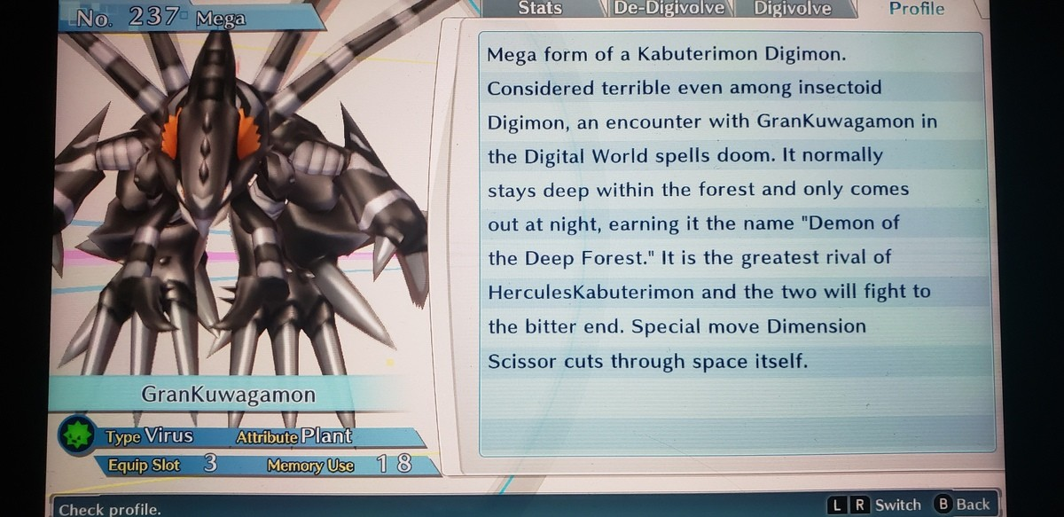 I love this ing game. This game lets you take the most chaotic, evil Digimon in the franchise's history and turn them into wholesome good boys. My Devimon asked