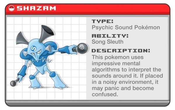 If Your Favorite Apps Were Pokémon!. . Psychic Sound Pokeamon HELMIT?: Song Sleuth This pokemon uses impressive mental algorithms he interpret the seems around