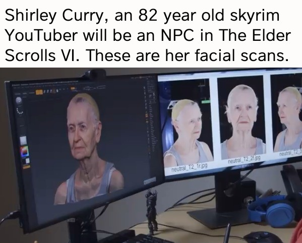 important skyrim 2 news. .. Can't wait for when someone finds her character and makes it compatible with the inevitable hundreds of companion & sex mods.