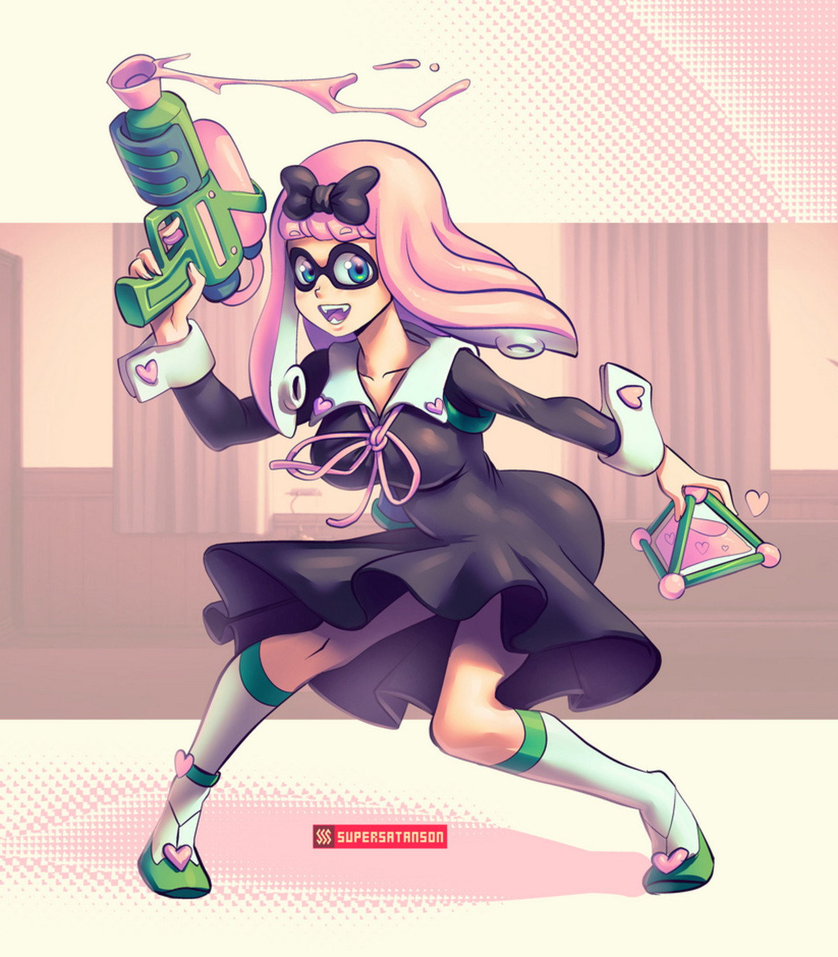 Inkling Chika. .. What's wrong with her ass