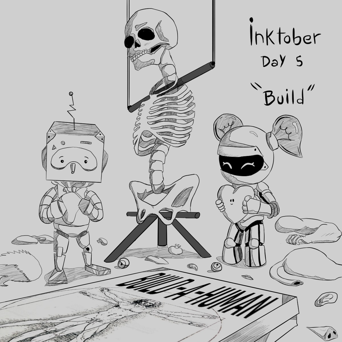 "Inktober 2019 Day 5 ""Build"". Another late drawing for inktober!.."