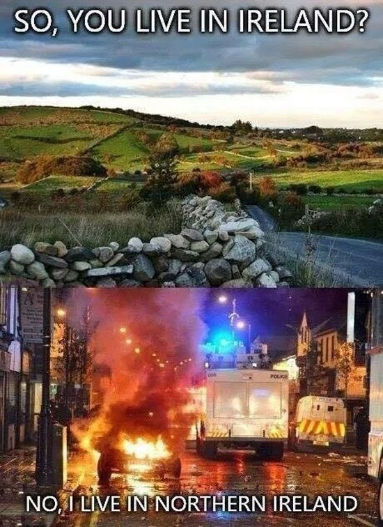 Ireland. .. Oh, so the occupied counties
