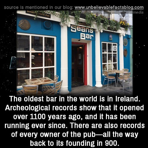 Irish Bar tending. .. Was the first owner named Sean ?