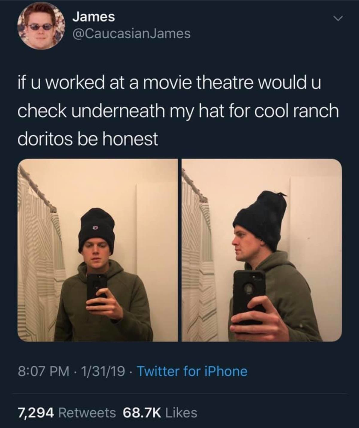 Is this a good plan? Be honest, guys.. .. I don't and have never worked at a movie theatre but I do know someone who does They don't care, just don't be so brazen about carrying it in, make an attempt a