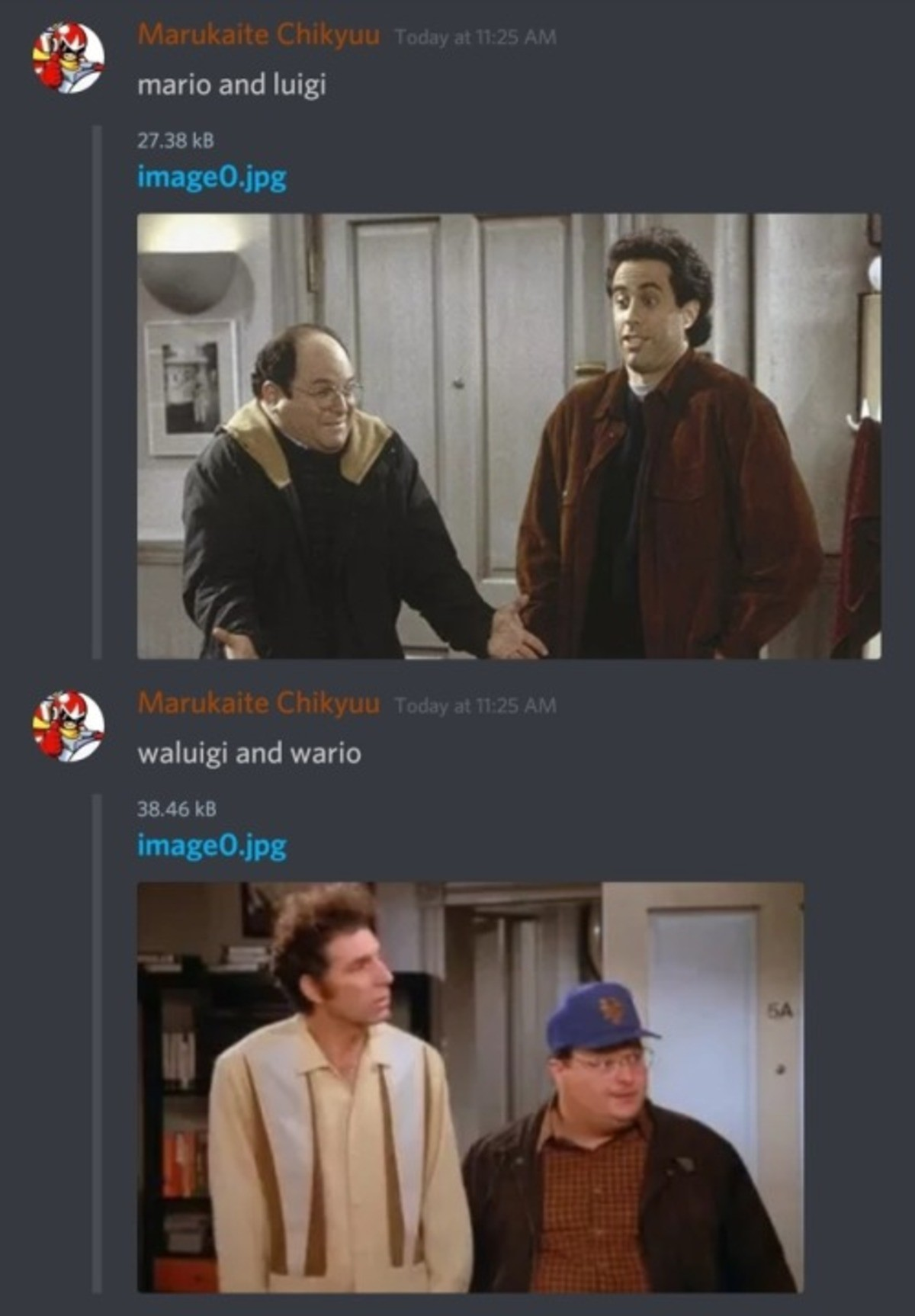 IT'S A MEEEE. .. I'm a simple man. I see Seinfeld, I thumb up.