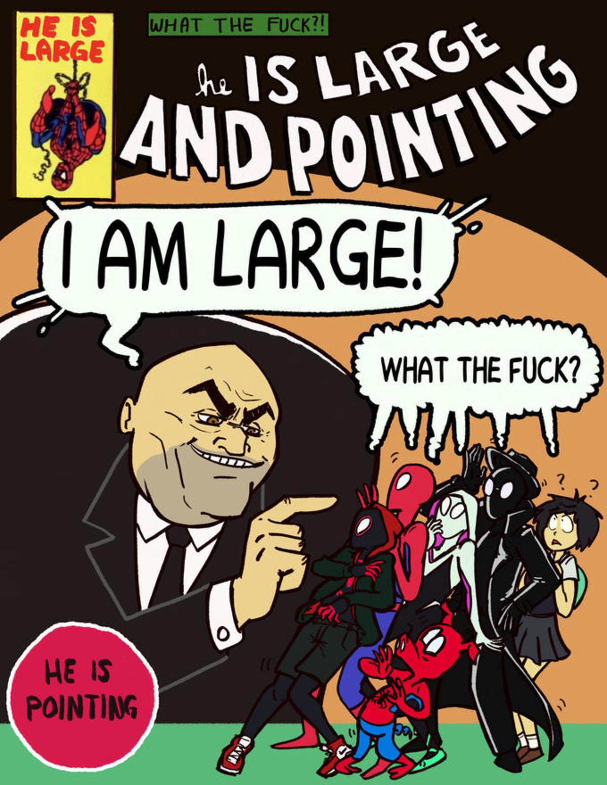 It's rude to point!. Artist Credit: @spaghoner https://twitter.com/spaghoner/status/1076226575920578560?lang=en.