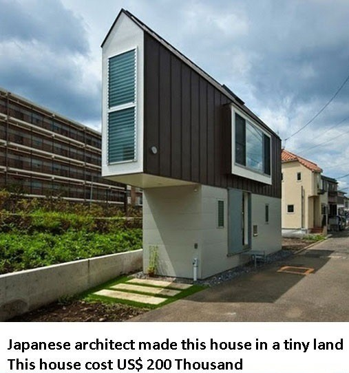 """""""Japanese Architecture"""". .. I could never fit in something that small."""