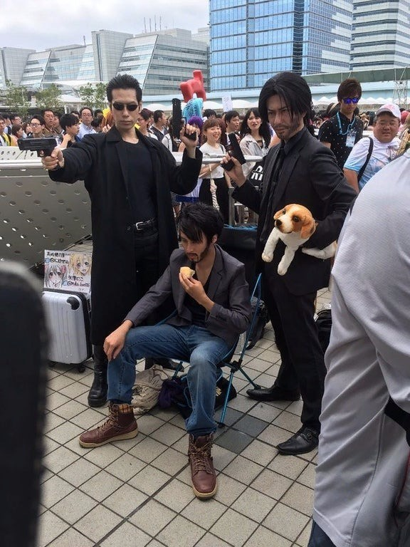 Japanese Comiket. .. Man in the middle there lookin' real moist.