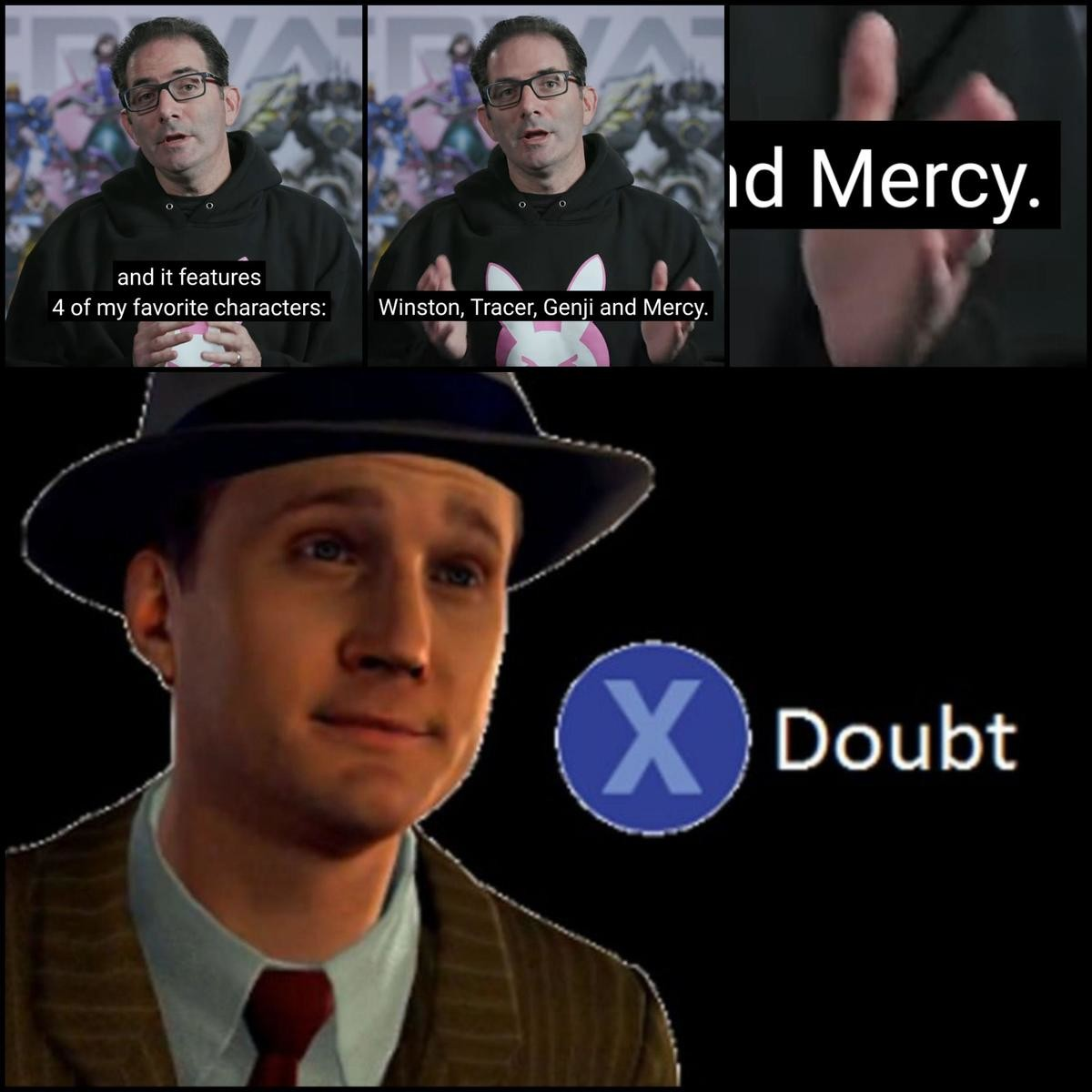 Jeff please. More like an abusive relationship... >Mercy in the cinematic is a high-flying, graceful angel that soars around the battlefield >Mercy's ult in the game is transforming into a slow, healing b