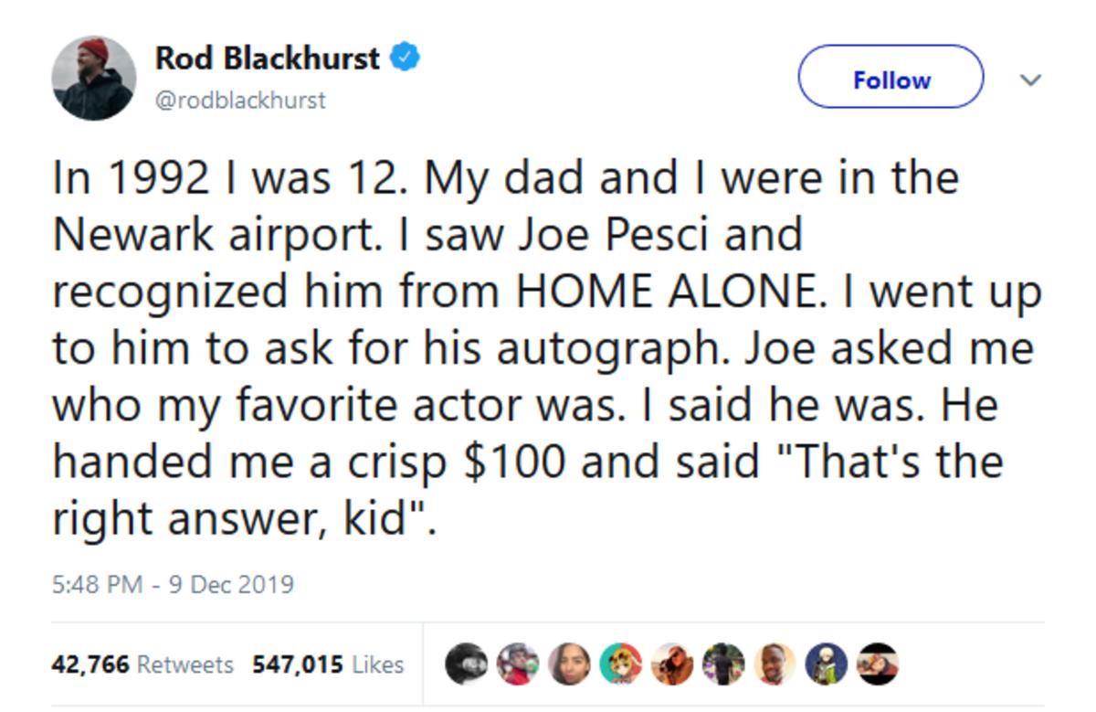 Joe Pesci. .. Then he told him to get his shine box.