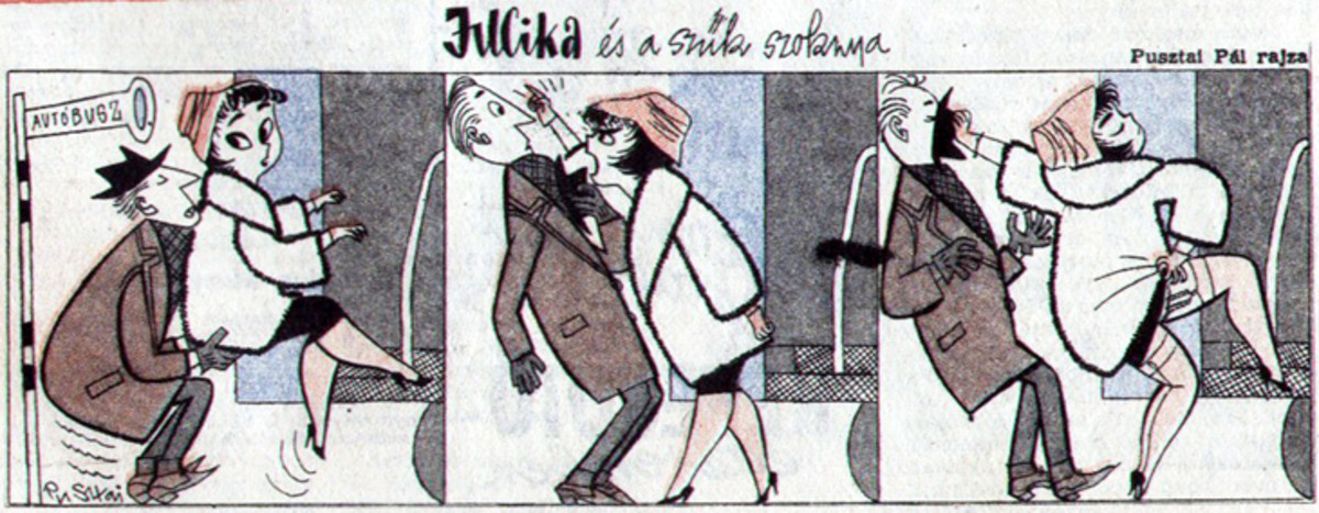 Jucika comic strips (hopefully SFW). .. For some reason the one with the boxing gloves was hilarious.