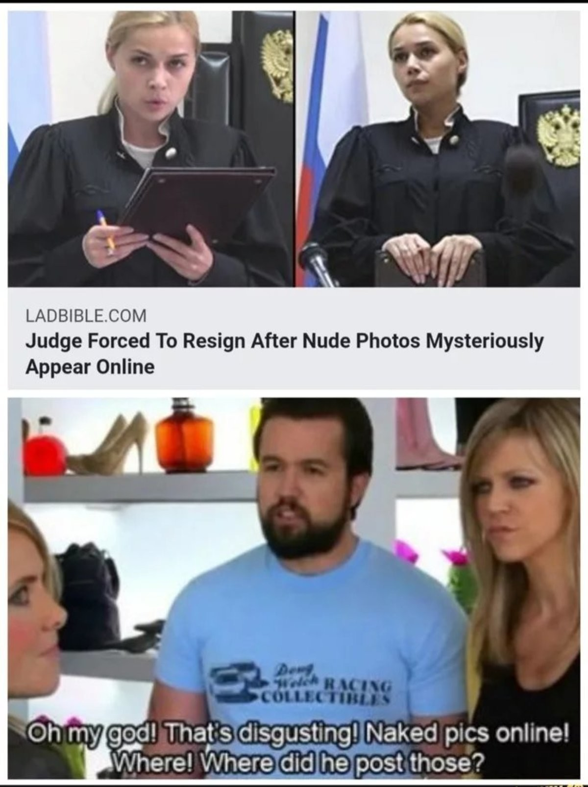 Judge nude got fired. .. Getting fired for a nide taken off your phone via hacking is a reason, where the people she works with and for unaware she had tits