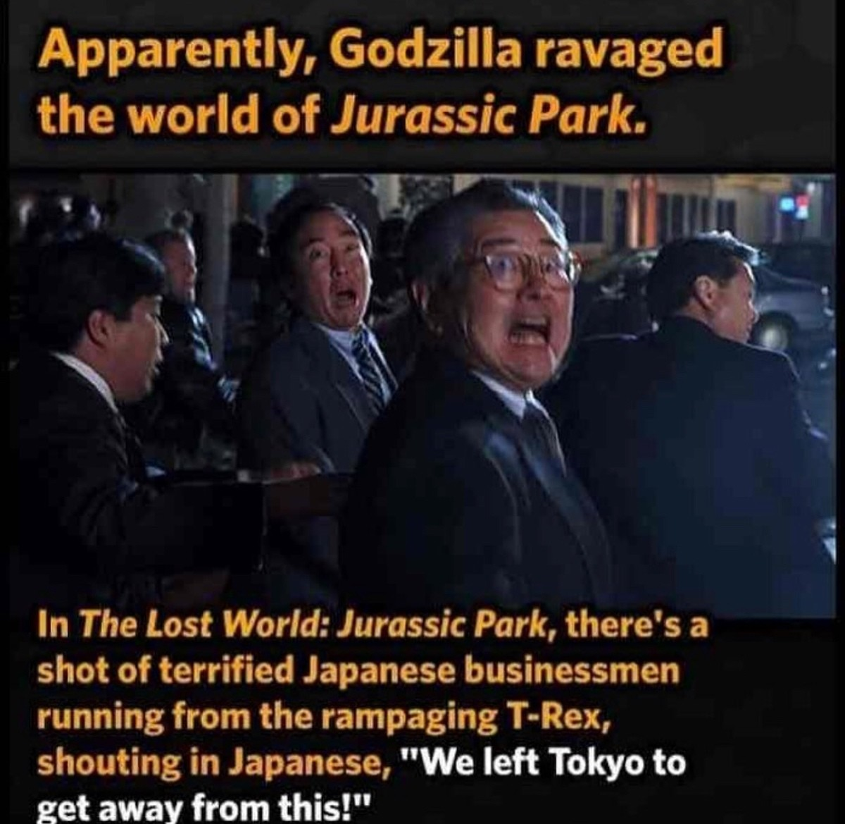 Jurassic Park Lost world. .. Pickles are worse than a T-RexComment edited at .