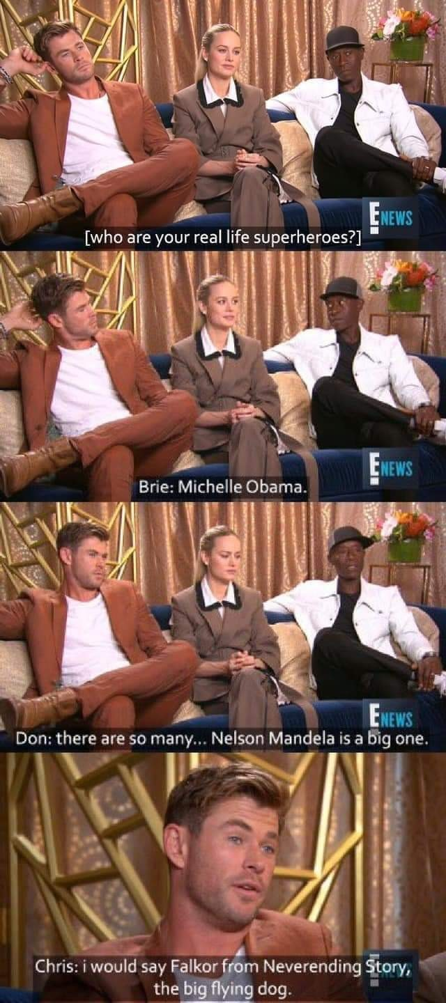 Keep it real. .. Holy can Brie stop pandering and have her own thoughts for one second?