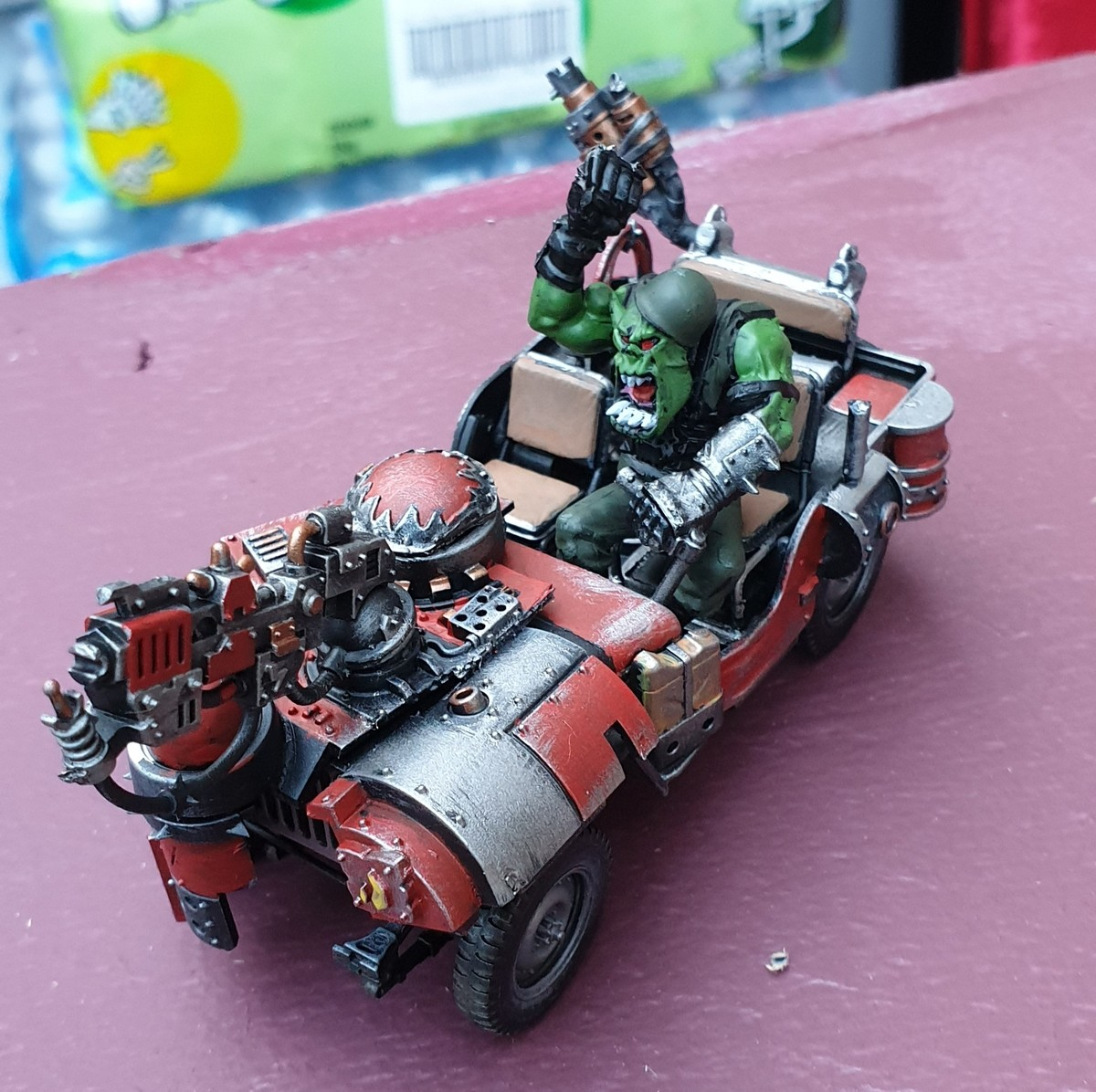 Kitbashed Skorcha. .. Reapandknow got another ork buggy for you, this one's a skorcha