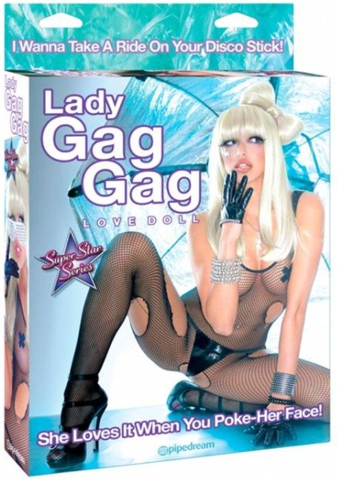 Lady Gaga. HAHAHAH! This is a real thing too. I want one (:<.. What you buy ^ what you get <----