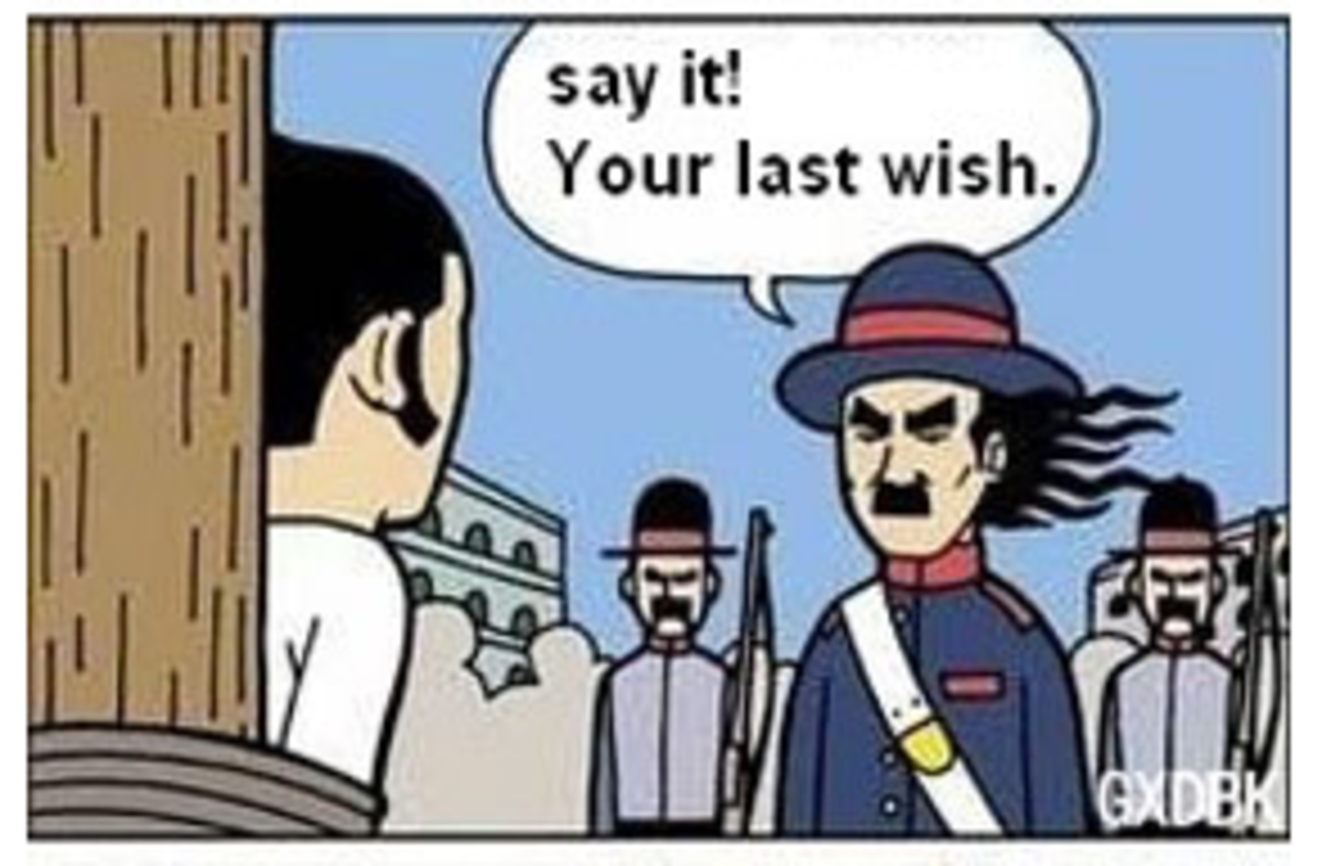 """Last wish"". .. Alternate ending: ""say it, your last wish"" ""your last wish"" ""this joker"" kills him anyway"