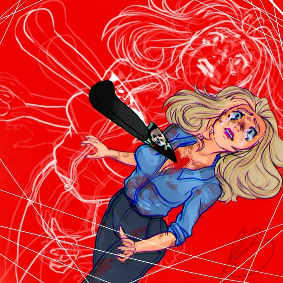 Laurie strode. Gotta dump my art here too I guess. ♥.. JOTARO! THE WORLD CAN STOP TI-