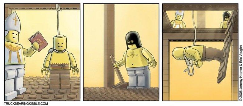 Lego Executioner. I'm just a description. Jeremy Kramer fin 'mugen
