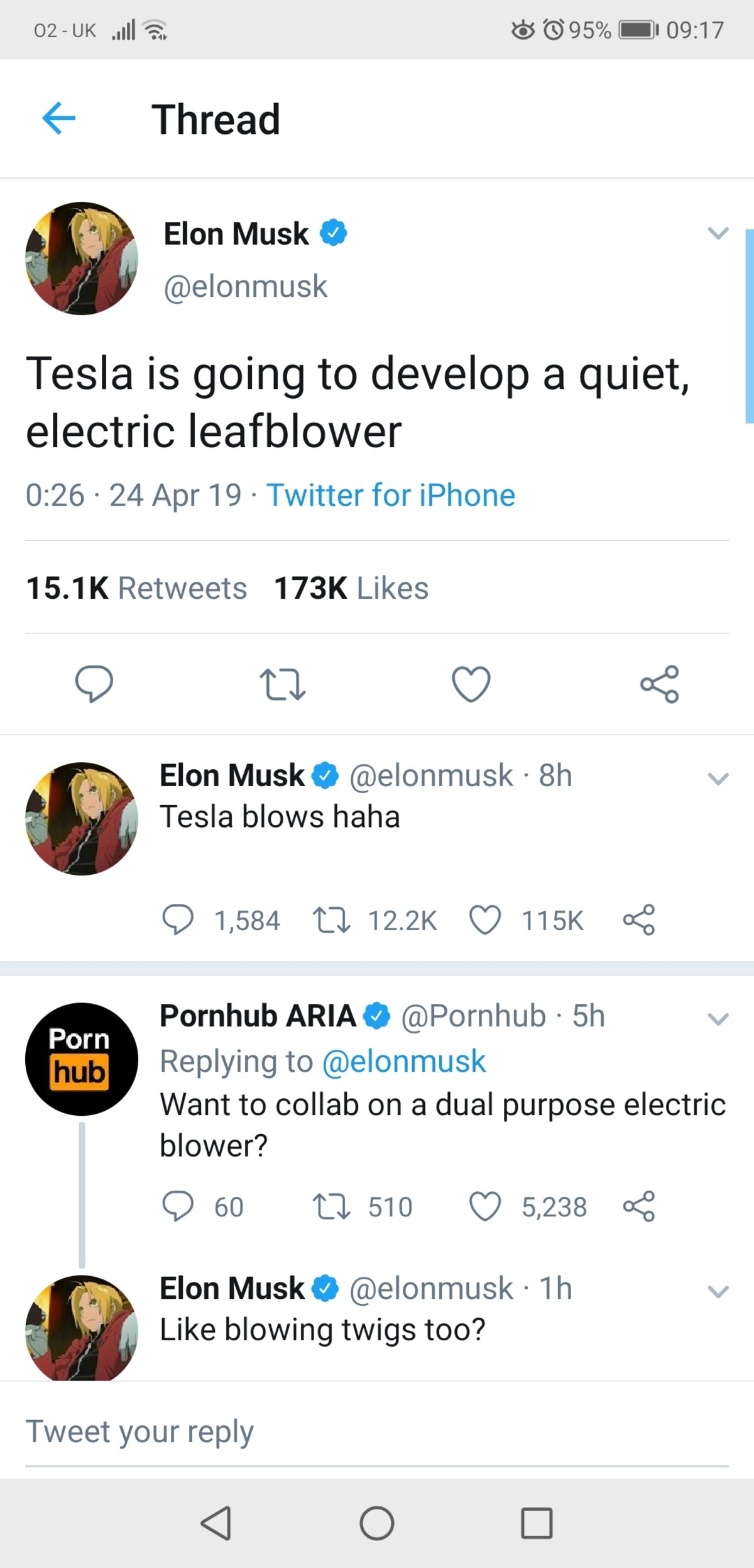 Lord E Musk. .. A bundle of twigs perhaps.