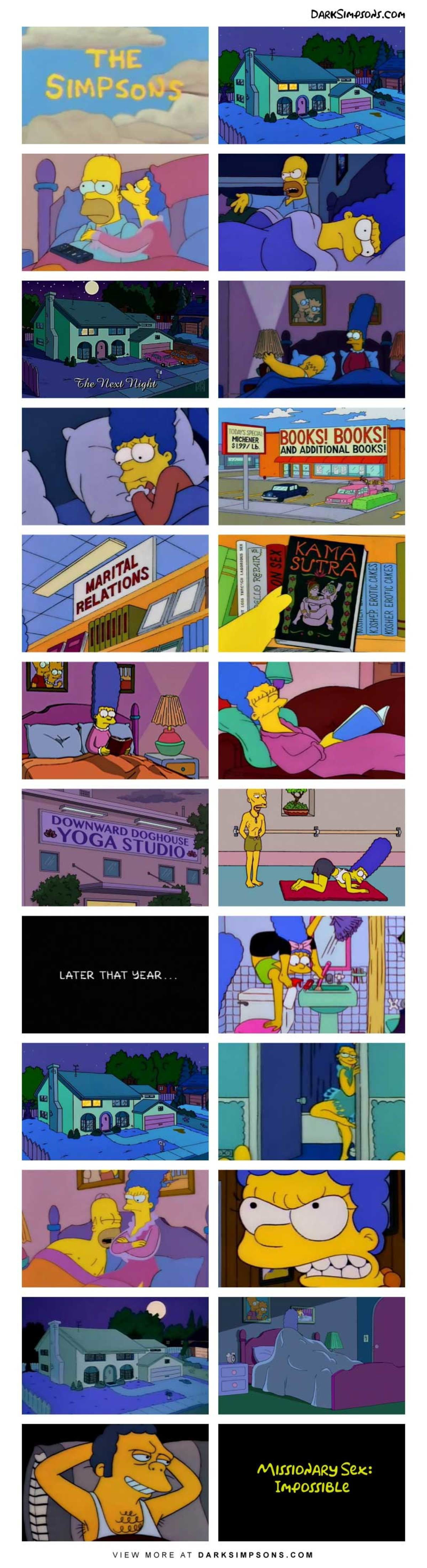 Marge: Is this the way you pictured married life?. . con LATER THAT dc. , R Sex: VIEW MORE AT . COM. So that is why Moe was so fond of Maggie! It was his child, but Homer was lead to believe it was his!