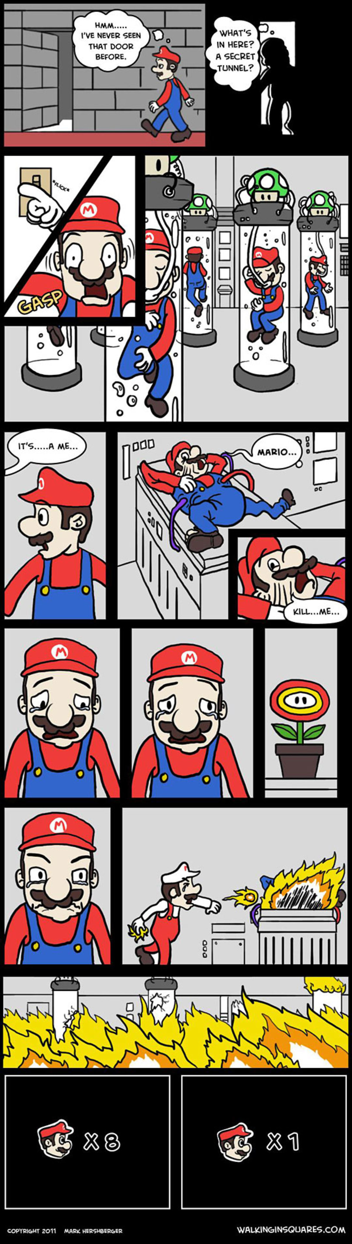 """Mario's immortality"". .. One got away, fled the country and changed his occupation. And so Doctor Mario was born."