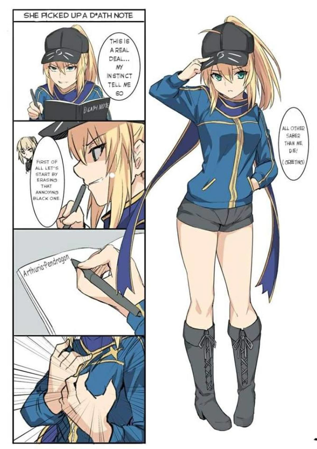 Masaka!?. https://twitter.com/hirame_sa/status/975394640491790336?s=19 join list: SmolHol (1445 subs)Mention History join list:. Is that Arturia dumb?