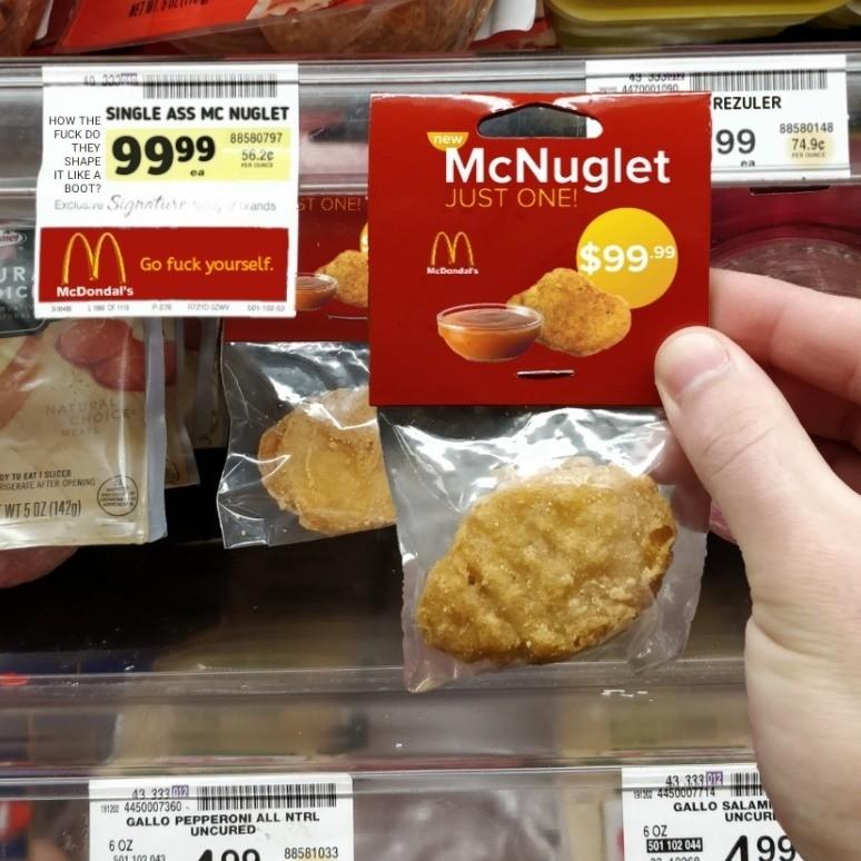 McNugglet. .. Great deal, go get them bois