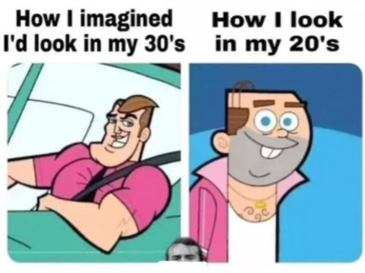 me irl. .. So you have 10 years aprox to get into shape then.