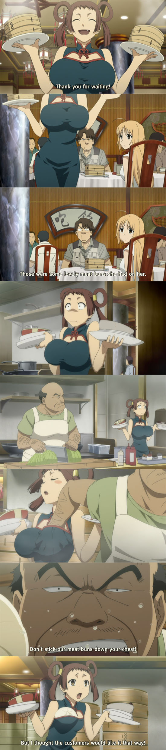 Meat Buns. Meat Buns.. Giving Pettanko BOINGS since ??? Source: Canaan.. Reminded me of this