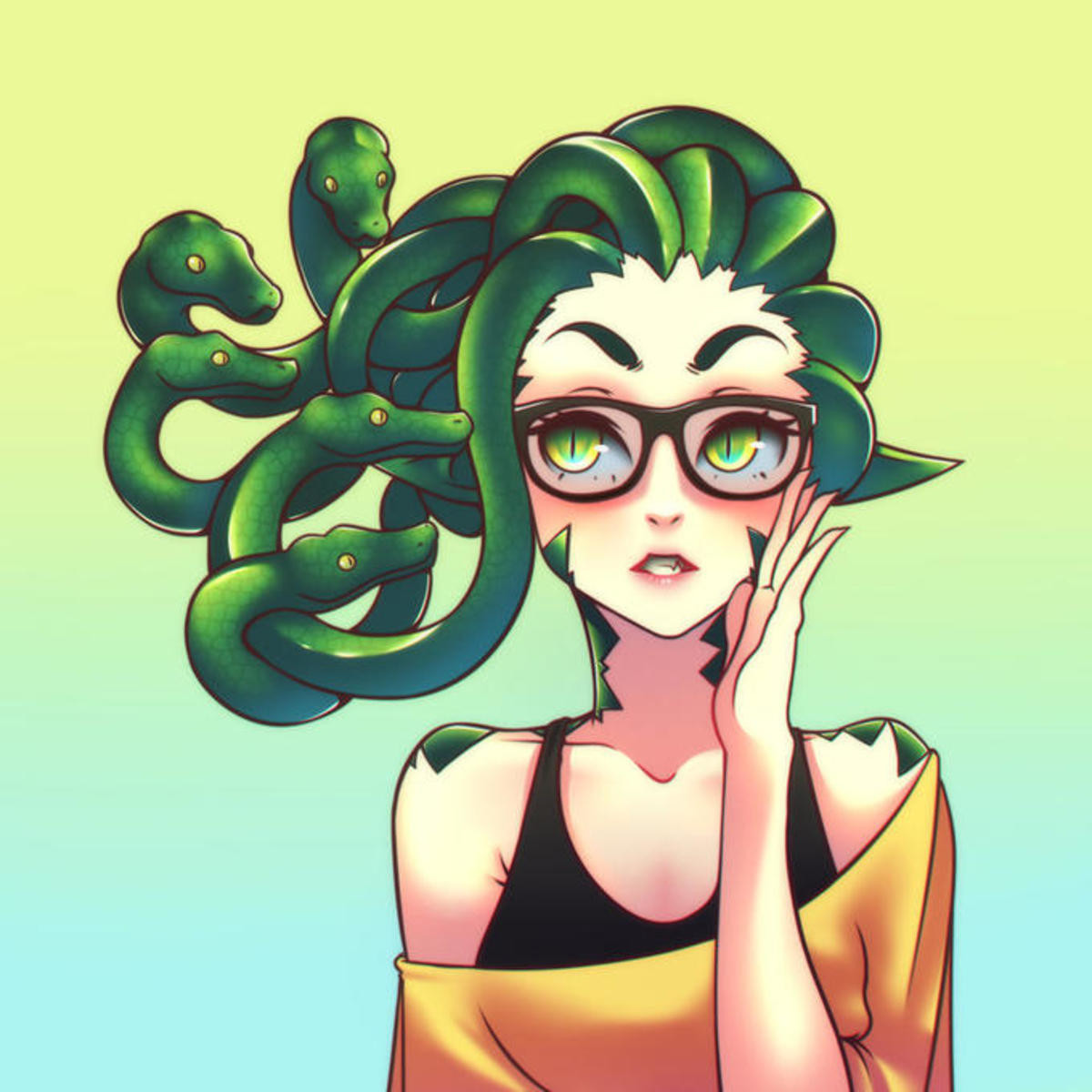 Medusa glasses. .. I prefer this one.