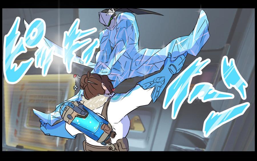 Mei vs Genji. .. Dio was so much cooler before Stardust crusaders