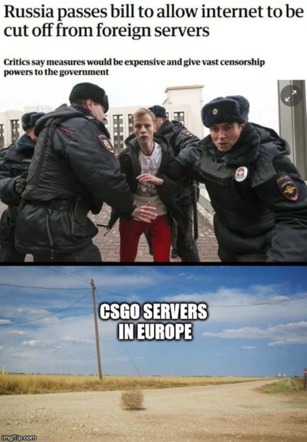 Memes spread faster than news.. .. I was more expecting this for the EU servers reaction