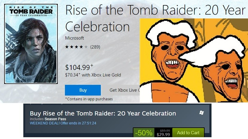 """Microsoft, you ok?. join list: VideoGameHumor (1701 subs)Mention Clicks: 567953Msgs Sent: 5351695Mention History. ti' Rise of the Tomb aide: 20 / ear"""" Celebrati"""