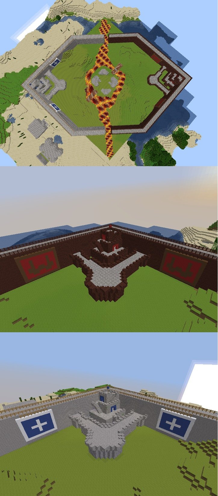 Minecraft CastleWars. Anyone who plays Runescape probably knows what this is. Helped build with my some of my friends.. naif Iri- Mia'. It has been like 5 years since I last played RS... and Castle Wars was my favorite mini-game, along with Pest Control.