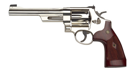 Mini revolver comp. Model 27 came in 1935 and was the first bar named Magnum . caliber - 357 magnum - was also developed by Smith and Wesson . there was no imme