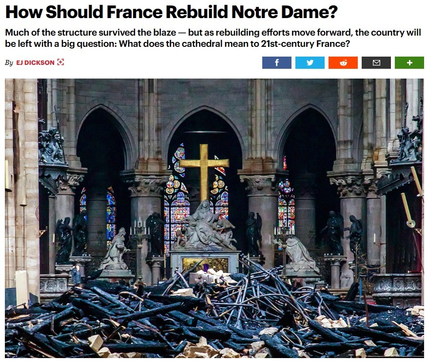 Modern rebuilding of Notre Dame. .. So I'm guessing it's a govt owned building? If so congrats on your new muslim church France