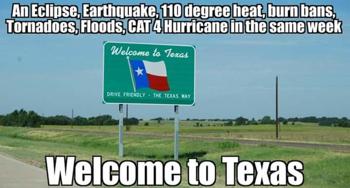 Mother Nature.... . An Emilee. Eactly_ ( e. degree heat. burn hens, ls,_[: 4 Hurricane in meesage week Welcome to Texas