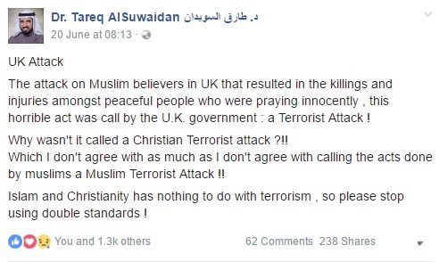 Muslim's Response to UK Attack. A response from a Muslim scholar regarding the use of labels in Media, especially when a Christian citizen rammed his van to mur