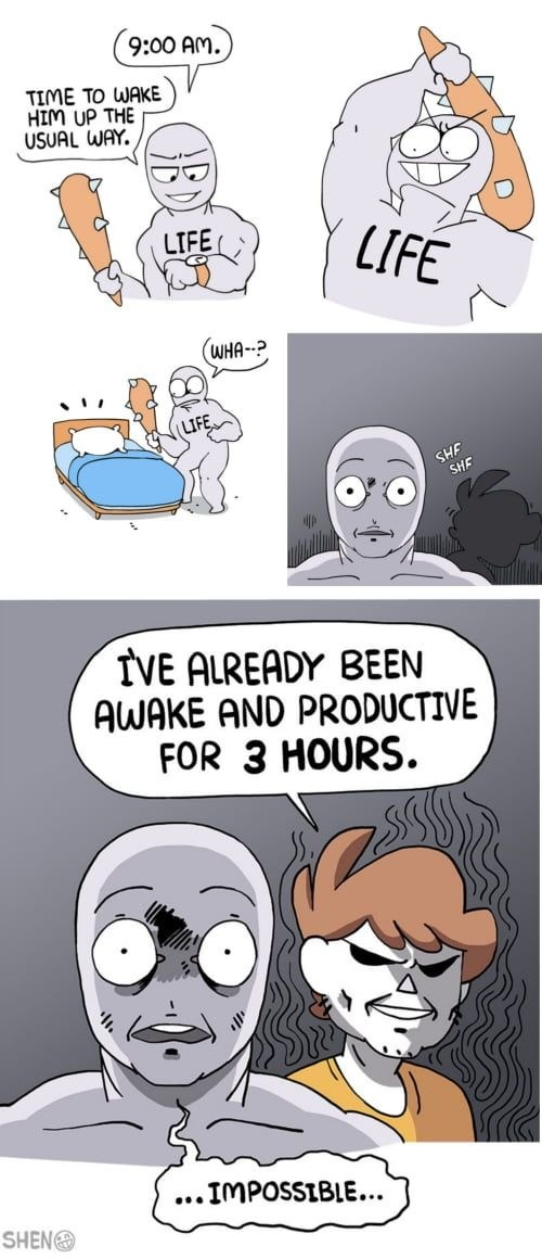 NANI. .. Liking this revival arc from owlturd. Make life your bitch