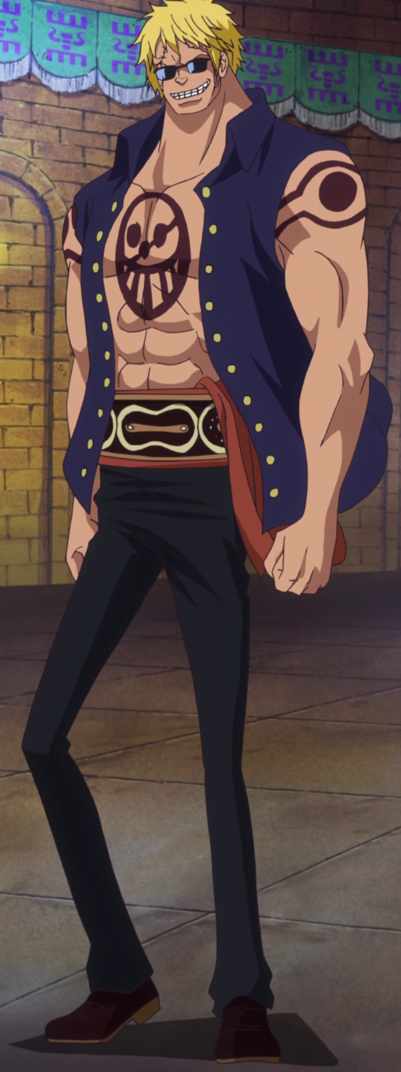 Never skip leg day. Bellamy the Hyena from One Piece... Well when you can turn your legs into huge ass springs, there's really no need for leg day. Pretty much anyone who laughs at your disproportionate legs is a dea