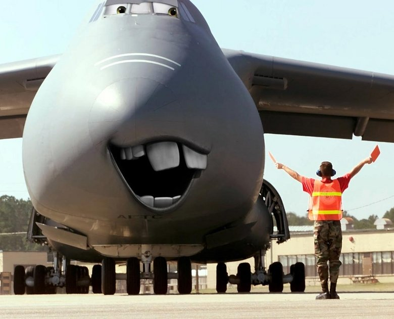 New softer attitude in Afghanistan. C-5 Galaxy... When you need a giant retard to carry your ..... DERP!