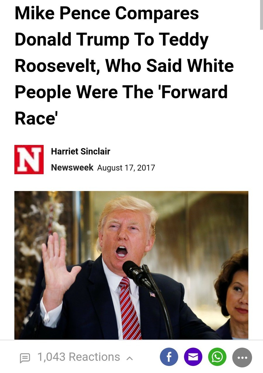 Newsweek has devolved into tabloid news. Essentially, the argument used by Newsweek was 1) Roosevelt has said some racist things 2) Roosevelt is therefore defin