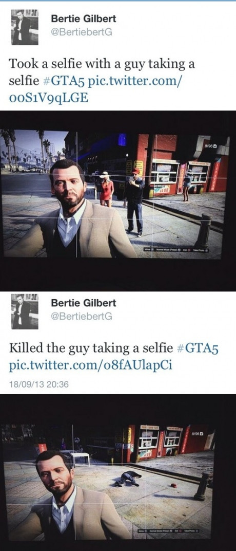 nice selfie. join list: VideoGameHumor (1685 subs)Mention Clicks: 564543Msgs Sent: 5309451Mention History. ahll Bertie Gilbert Tank 3. same with 'it) guy taking