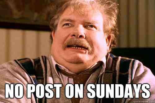 No Post On Sundays. .. i posted this same picture and got -7 thumbs. wat/