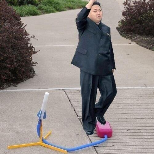 North Korea's REAL Missles. Might take out an eye or two, but if we all wear safety glasses we're safe... I don't know, OP... If it's thatthat's applying the force to the missile I wouldn't want to be on the receiving end.
